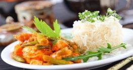 Curry-Huhn mit Basmati Reis